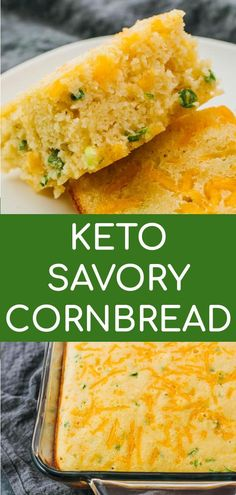 low carb meals This homemade Keto Cornbread is an easy, low carb and gluten free version that tastes exactly like corn bread, minus the corn and sugar. It tastes savory thanks to the jal Easy Keto Bread Recipe, Lowest Carb Bread Recipe, Recipe Breadmaker, No Bread Diet, Best Keto Bread, Keto Corn Bread, Keto Foods, Diet Recipes, Cooking Recipes