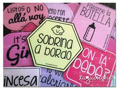Letreros baby shower www.taguinche.com