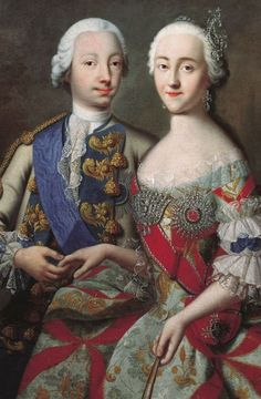Peter III of Russia and his German wife, Catherine. She later deposed him and ruled as Catherine the Great.
