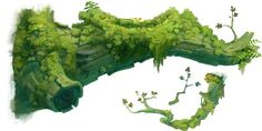 Meh Tumblr Art Refs Blog — grandminimus: High-res tree pieces from Rayman...: