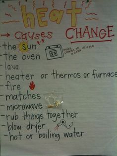 heat causes change anchor chart | School | Pinterest | Anchor ...
