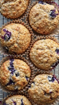 Blueberry Oat Muffins - a simple homemade muffin recipe bursting with healthy blueberries! Blueberry Oat Muffins - a simple homemade muffin recipe bursting with healthy blueberries! Oat Flour Muffins, Banana Oat Muffins, Oatmeal Blueberry Muffins Healthy, Greek Yogurt Muffins, Oat Pancakes, Oatmeal Bran Muffins Recipe, Muffins With Buttermilk, Blueberries Muffins, Frozen Blueberries