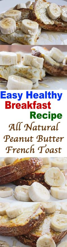 Need more easy healthy breakfast recipes? Check out today's all natural peanut butter French toast (by Best Brunch Seattle). Easy healthy breakfast with flavor! Healthy Recipes For Weight Loss, Easy Healthy Recipes, Healthy Cooking, Easy Meals, Healthy Food, Healthy Brunch, Healthy Breakfast Recipes, Brunch Recipes, Brunch Food