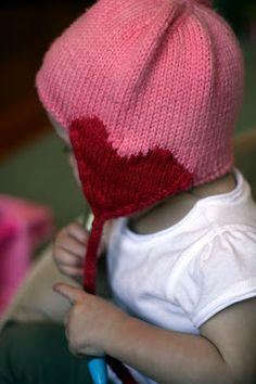 love (valentine) baby hat (w/pattern)