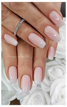 Nails Wedding Nail Art Design Ideas for Bride Tropical Ga Simple Wedding Nails, Wedding Nails Design, Nail Designs For Weddings, Natural Wedding Nails, Simple Nails, Natural Nail Designs, Gel Nail Art Designs, Cute Nails, Pretty Nails