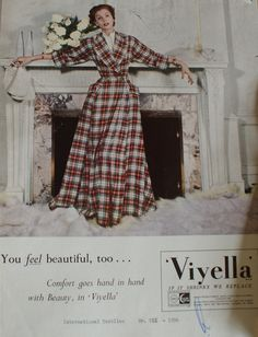 "Viyella ""You feel beautiful too. Beautiful Lines, How To Feel Beautiful, Classic Style, My Style, Modest Fashion, How Are You Feeling, Vintage Fashion, Textiles, Plaid"