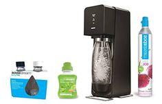 Sodastream SOURCE Machine à eau pétillante et soda noire + pack 2 bouteilles Fuse 0.5L + 1 concentré limonade 500ml: Amazon.fr: Cuisine & Maison