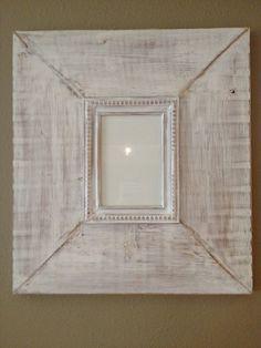 Distressed White Wash frame