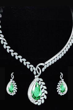 emerald on diamonds