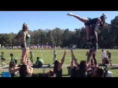 MU Cheer Handstand Stunt 2013 - YouTube