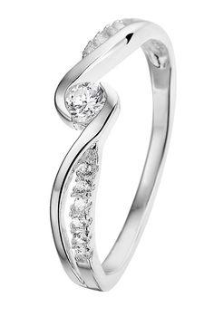Zilveren ring fantasie met zirkonia