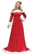 LADY MRS SANTA CLAUS ELEGANT GOWN ADULT WOMENS COSTUME HOLIDAY PARTY CHRISTMAS