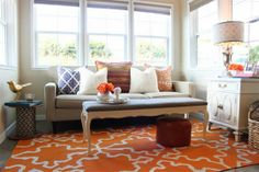 Using a warm color palette in winter can bring warmth to your home