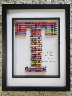 Crayola Crayon Picture Frame Personalized Monogram Name