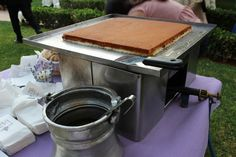 Al Baba Sweets Lavender themed reception #Knafeh #cheese