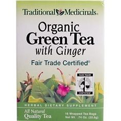 Traditional Medicinals Tea Organic Green With Ginger 16 bag ( Value Bulk Multi-pack)$223.64: www.amazon.com/Traditional-Medicinals-Organic-Ginger-Multi-pack/dp/B001I7JX20/?tag=sure9600pneun-20