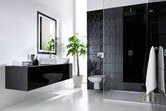 Elegancki, klasyczny wystrój - czarno-biała kompozycja: http://www.kwadroceramika.com/pl/produkty/plytki_lazienkowe/tenor_tono_bianco