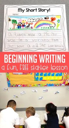 This fun, FREE writing lesson gets your first grade students excited about writing their own short stories. I complete this lesson after reading the book, Rocket Learns to Write! Head over to the blog post to download your free lesson.
