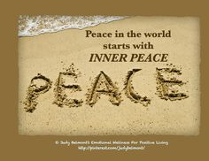 Peace in the world starts with inner peace!