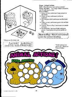 Land aninals/ water animals file folder games 4/4