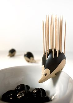 "mymodernmetselects: ""Charming Hedgehog-Shaped Toothpick Holder by Erwan Péron Meet Kipik, the ultimate cocktail party companion. This whimsical hedgehog was designed by French designer Erwan Péron. Cool Kitchen Gadgets, Cool Gadgets, Cool Kitchens, Best Gifts For Mom, Cocktail Sticks, Mom And Grandma, Aprons Vintage, Retro Vintage, Kitchen Gifts"