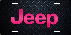 pink jeep license plate | Jeep, pink, License Plate, License Tag, Novelty License Plate ...