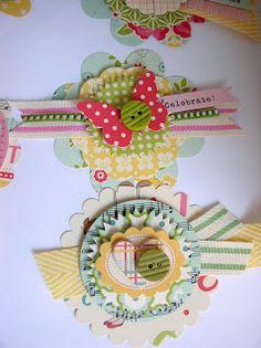 Ribbon Carousel Blog: Using those ribbon scraps to make embellishments.