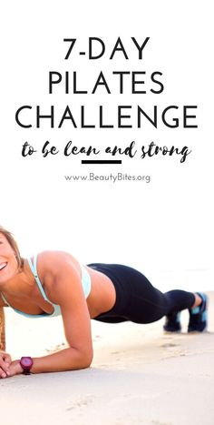 One week pilates challenge to get leaner and stronger! These at home workout videos are perfect for women who have no time. Free and you don't need much equipment, other than a mat.