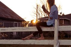 I imagine this... relaxing outside, good book, living on a lot of land, and having a husband and doggies around me. <3