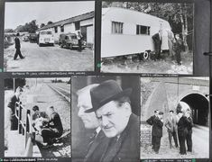 Probe: Police can be seen investigating the heist - dubbed the crime of the century - in these pictures from 1963.