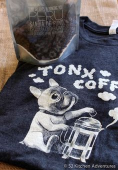 Tonx Coffee - they ship freshly roasted beans to you every other week (and have super cute shirts) #tonxcoffee