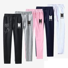 BTS love yourself pants Kpop men women slim fit Trousers casual Sweatpants Mid Waist Jogger Pants plus size Pantalon Femme. Kpop Fashion, Korean Fashion, Men Fashion, Sporty Fashion, Fashion Hacks, Fashion Ideas, Fashion Tips, Fashion Trends, Kpop Outfits