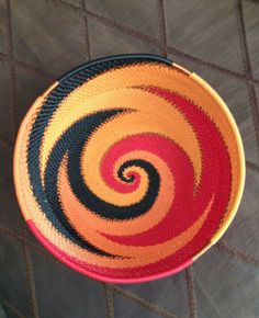 Handmade African Zulu Telephone Wire Basket/Bowl Small