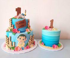 Moana Theme Cake, Moana Theme Birthday, Moana Themed Party, Themed Birthday Cakes, Moana Cake Ideas, Moana Party, Moana Cake Design, Baby Cake Design, Moana Cupcake