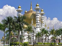 One of the most beautiful mosques in the world - Masjid Ubudiah Mosque  in KuaSJla Kangsar, Malaysia.