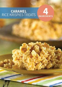 This easy, 4-ingredient Rice Krispies Treats® recipe simply uses creamy caramel ice cream topping to give it that extra sweet and delicious twist.