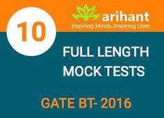 Full lenth Mock tests GATE BT -2016 #Gate #Onlinetyari https://onlinetyari.com/publishers/arihant-publications-p18.html