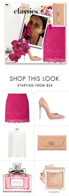"""classics"" by emina-la ❤ liked on Polyvore featuring Miss Selfridge, Christian Louboutin, Joseph, Vision, Christian Dior, Yves Saint Laurent and WardrobeStaples"
