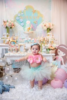 Pastel Mermaid Birthday Party via Kara's Party Ideas | KarasPartyIdeas.com (8)