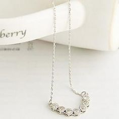 Korean version of the word exquisite diamond drill clavicle chain necklace single drainage N552 - buy for USD0.69