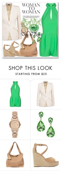 """""""Day to Night: Rompers"""" by andrejae ❤ liked on Polyvore featuring Topshop, Alexander McQueen, Burberry, The Row, Dune, DayToNight and romper"""