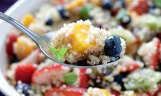 Quinoa-Fruit-Salad_IMG_5623-735x439 Quinoa Fruit Salad, Fruit Salad Making, Healthy Salads, Healthy Cooking, Healthy Recipes, Free Recipes, Healthy Food, Delicious Recipes, Smoked Salmon Platter