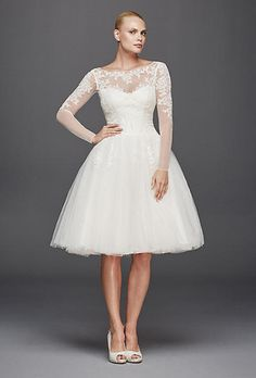 Tulle Long Sleeve Wedding Dress by Truly Zac Posen | Brides.com