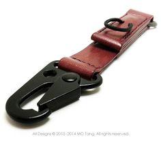 Leather Keychain Key Fob Belt Clip - SIDEWINDER