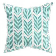 arrow print pillow.