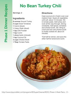 No Bean Turkey Chili - Beyond Diet