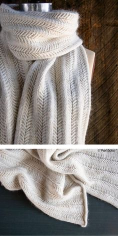 Every woman should have an elegant scarf in her wardrobe. It will be a perfect fit for an evening outfit, like for example dress, or with an autumn coat. Easy Scarf Knitting Patterns, Easy Knitting, Knit Patterns, Knitted Scarves, Wool Scarf, Knitting Accessories, Knit Crochet, Autumn Coat, Jasmine