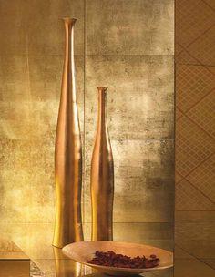 Glasfliesen Gold Goldfliesen Wand