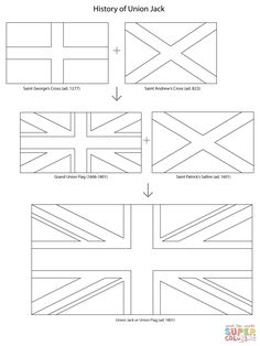 Union Jack History Coloring Page From United Kingdom Category Select 27007 Printable Crafts Of Cartoons Nature Animals Bible And Many More