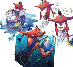 Prince Sidon and Link | Legend of Zelda Breath of the Wild